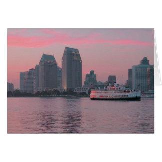 Ferry @ San Diego Sunset Card