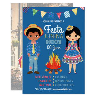 Festa Junina Corporate/Club Party photo Invitation