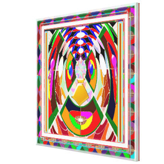 Festival Celebrations Diwali Xmas CARTOON FACE FUN Gallery Wrap Canvas