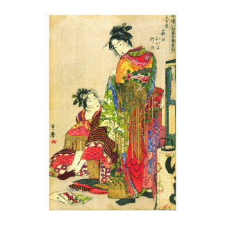 Festival Costumes 1785 Gallery Wrap Canvas