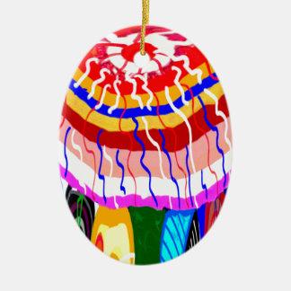 Festival Decorative TENT awning canopy sunshade Ceramic Ornament