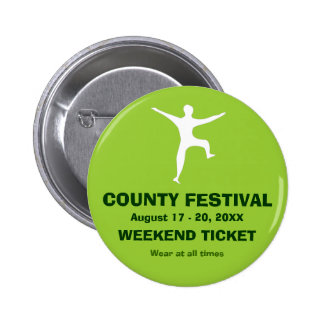 Festival Event Admission Ticket Button Badge