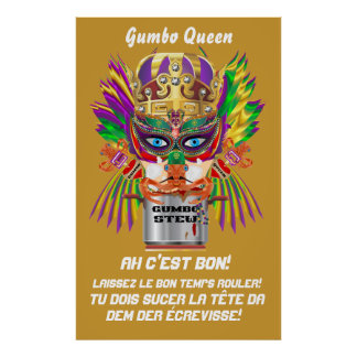 "Festival Gumbo Queen Poster 38""x 60"" View Hints"