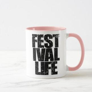FESTIVAL LIFE (blk) Mug