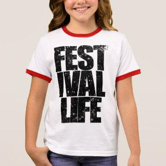 FESTIVAL LIFE (blk) Ringer T-Shirt