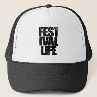 FESTIVAL LIFE (blk) Trucker Hat