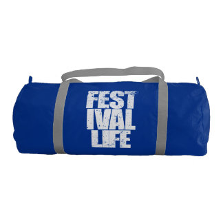 FESTIVAL LIFE (wht) Gym Bag