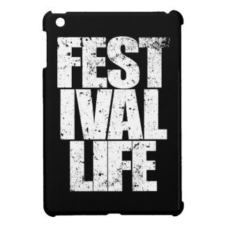 FESTIVAL LIFE (wht) iPad Mini Cases