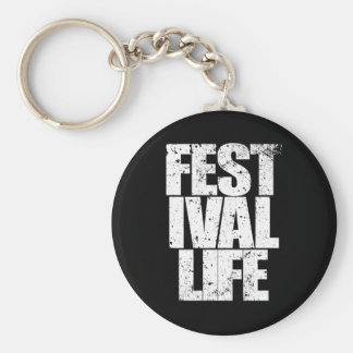 FESTIVAL LIFE (wht) Key Ring