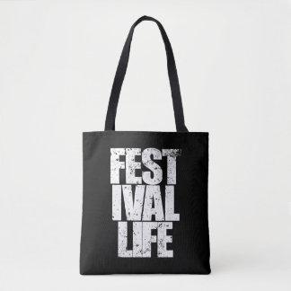 FESTIVAL LIFE (wht) Tote Bag