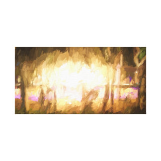 Festival Lights and Fire 4 Canvas Print