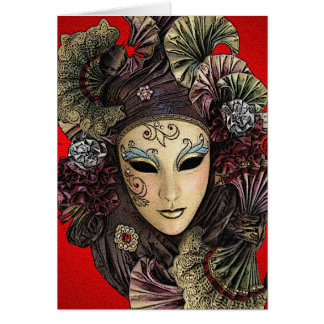 Festival Mask Greeting Card