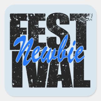 Festival Newbie (blk) Square Sticker