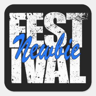 Festival Newbie (wht) Square Sticker