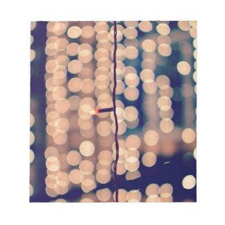 Festival Of Lights. Happy Diwali ! Bokeh Notepad