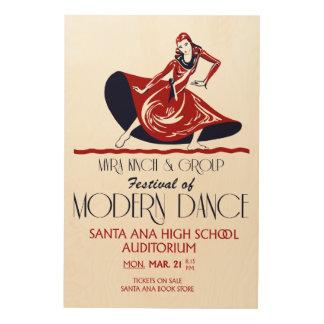 Festival of modern dance retro art wood canvas