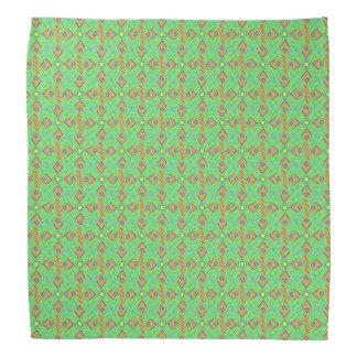festival pattern green/mint bandana