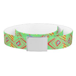 festival pattern green/mint belt
