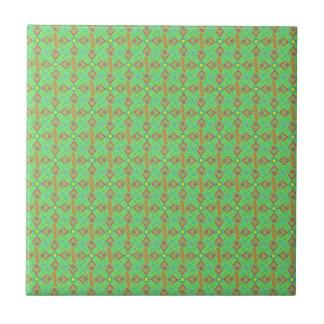 festival pattern green/mint ceramic tile