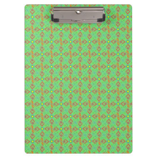 festival pattern green/mint clipboard
