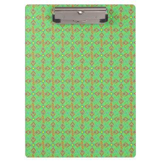 festival pattern green/mint clipboards