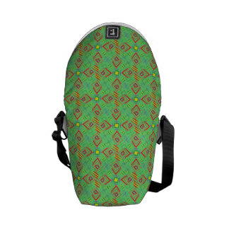 festival pattern green/mint courier bags
