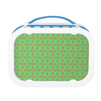 festival pattern green/mint lunch box