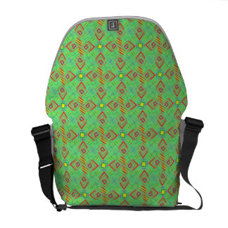 festival pattern green/mint messenger bag