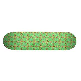 festival pattern green/mint skate boards