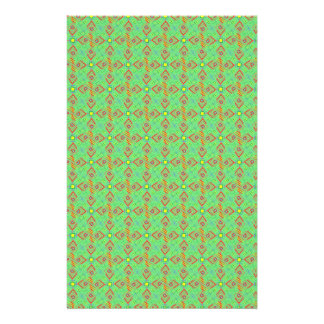 festival pattern green/mint stationery