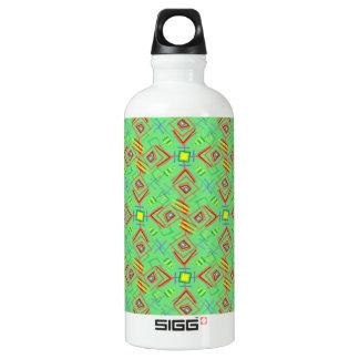 festival pattern green/mint water bottle
