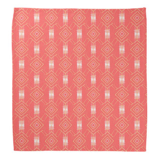 festival pattern peach bandana