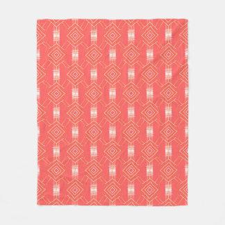 festival pattern peach fleece blanket