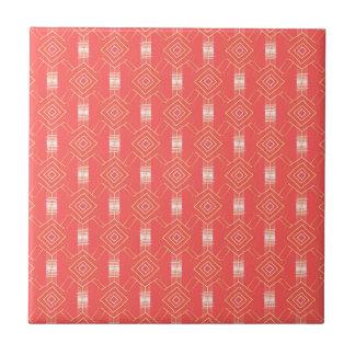 festival pattern peach small square tile