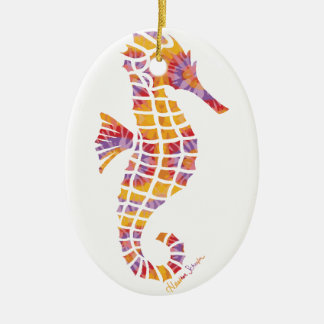 Festival Seahorse Ceramic Ornament