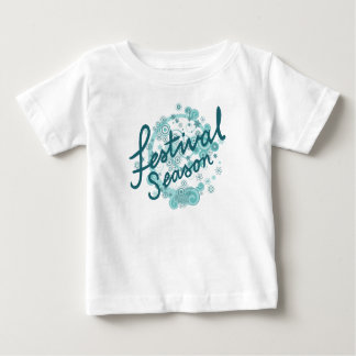 Festival Season Type Design Teals Baby T-Shirt