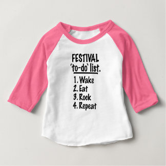 Festival 'to-do' list (blk) baby T-Shirt