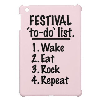 Festival 'to-do' list (blk) cover for the iPad mini