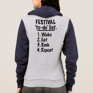 Festival 'to-do' list (blk) hoodie
