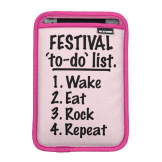 Festival 'to-do' list (blk) iPad mini sleeve