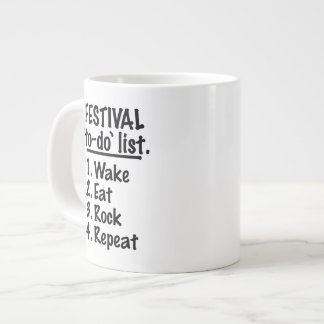 Festival 'to-do' list (blk) large coffee mug