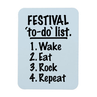 Festival 'to-do' list (blk) magnet