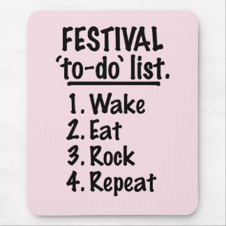 Festival 'to-do' list (blk) mouse pad