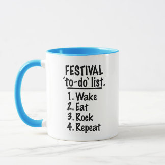 Festival 'to-do' list (blk) mug