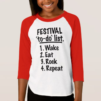 Festival 'to-do' list (blk) T-Shirt