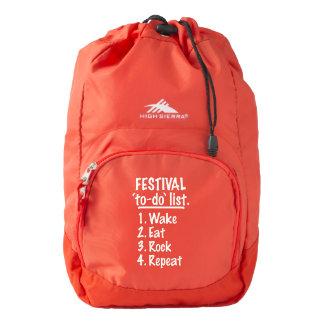 Festival 'to-do' list (wht) backpack