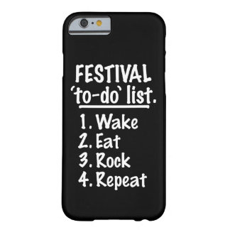 Festival 'to-do' list (wht) barely there iPhone 6 case