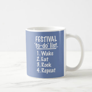 Festival 'to-do' list (wht) coffee mug