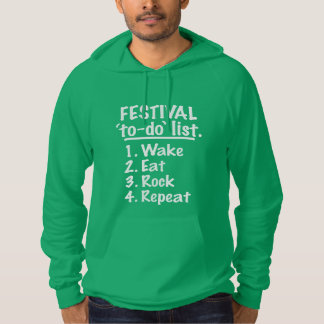 Festival 'to-do' list (wht) hoodie