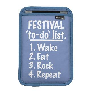 Festival 'to-do' list (wht) iPad mini sleeve